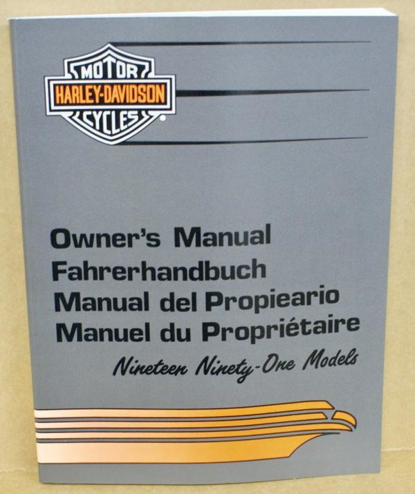 Harley original Fahrerhandbuch owners manual all Models alle Modelle 1991
