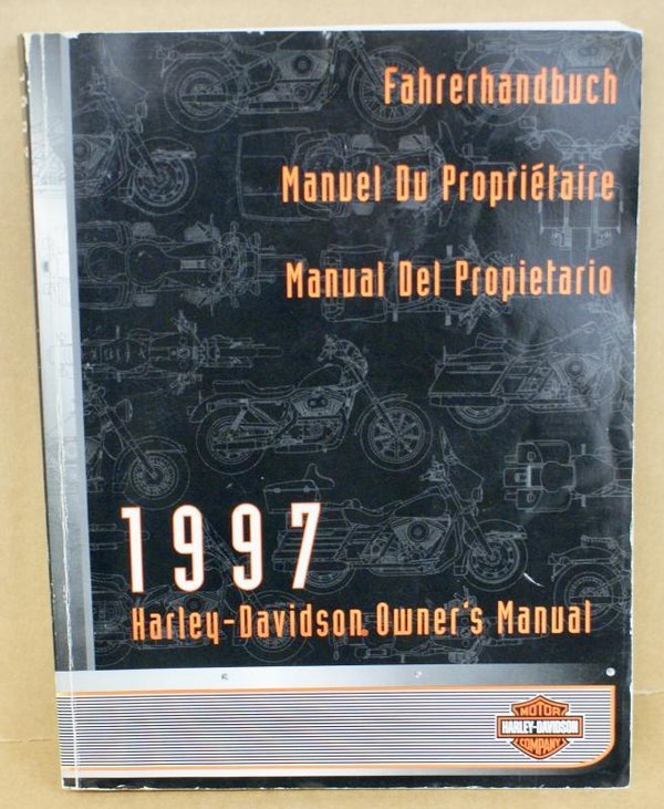 Harley original Fahrerhandbuch owners manual all Models alle Modelle 1997