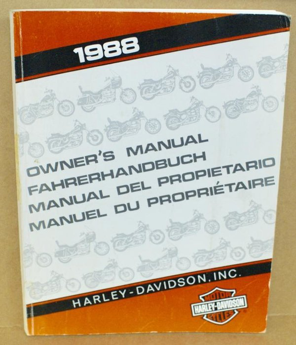 Harley original Fahrerhandbuch owners manual all Models alle Modelle 1988