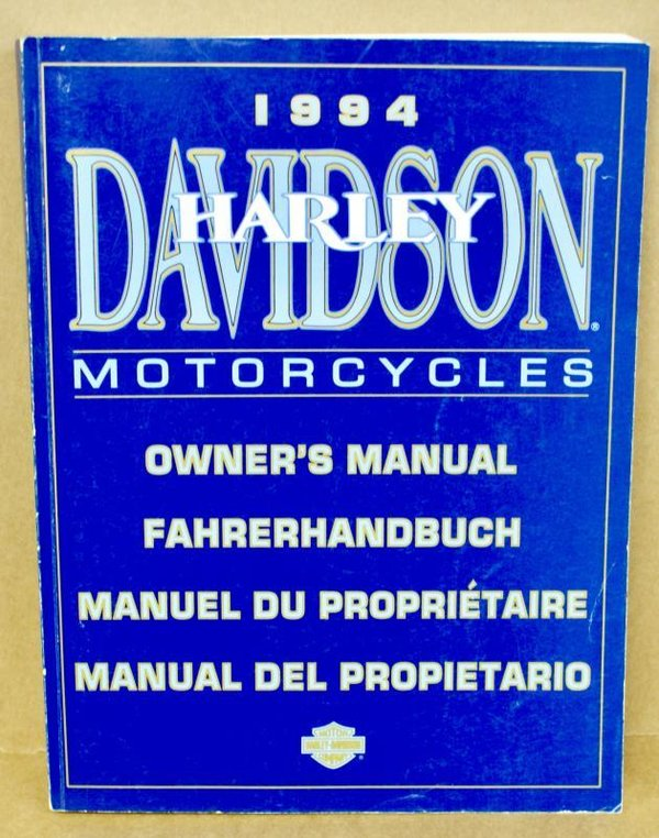 Harley original Fahrehandbuch owners manual all Models alle Modelle 1994