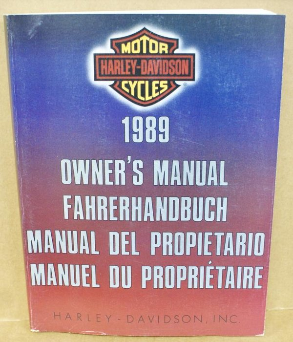 Harley original Fahrerhandbuch owners manual all Models alle Modelle 1989