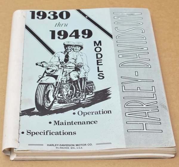 Harley Farhrerhandbuch owners manual Maintenace Operation Specifications 30-49