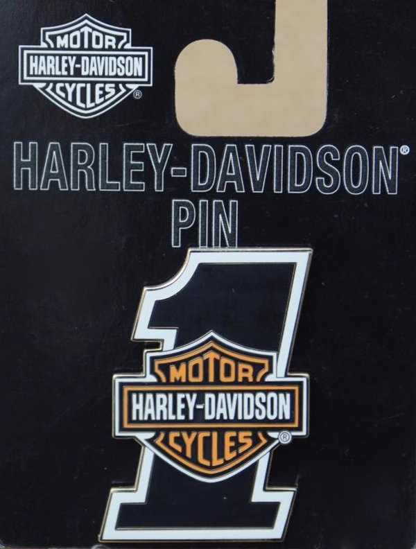 Harley original Pin Anstecker Anstecknadel Number One #1 Bar & Shield