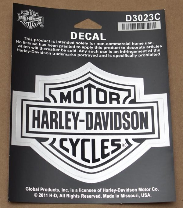 Harley original Aufkleber Decal  Sticker Bar & Shield chrome groß big