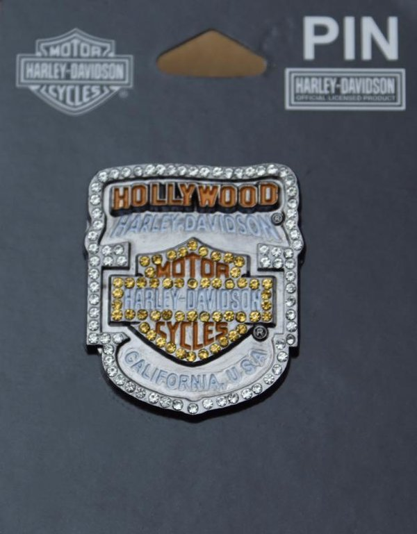Harley original Dealer Händler Pin Anstecker Anstecknadel Hollywood Glammer