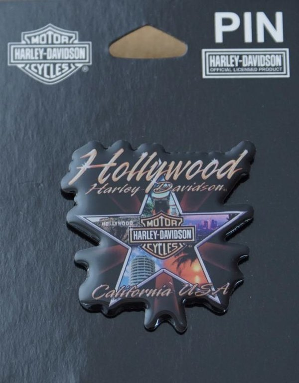 Harley original Dealer Händler Pin Anstecker Anstecknadel Hollywood Stern Star